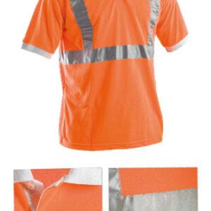 orange polo shirt