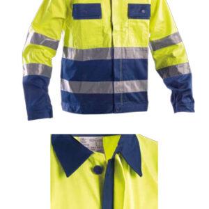 yellow blue protective jacket